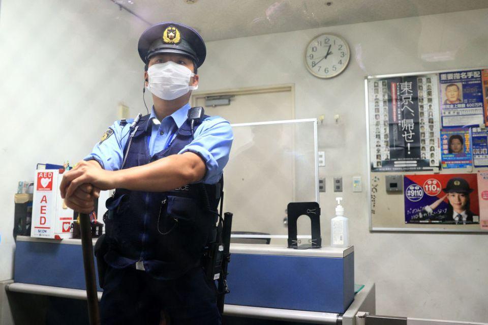 Police were on high alert at Tokyo Haneda International Airport