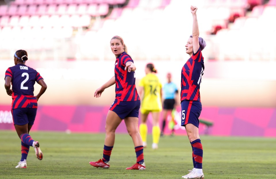 One of Rapinoe's goals was straight from a corner