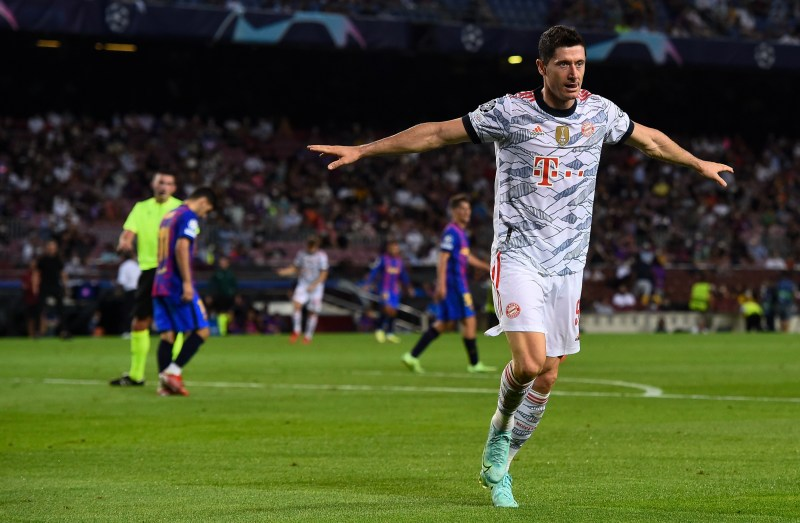 Lewandowski scored twice in a 3-0 win over Barcelona to get his Champions League campaign off and running