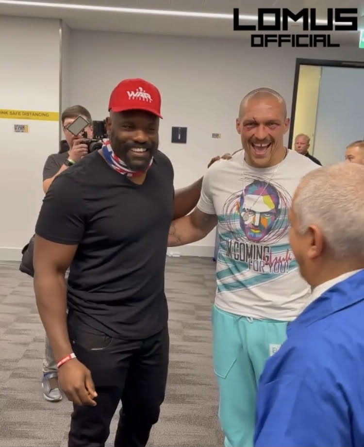 Chisora was waiting to congratulate Usyk