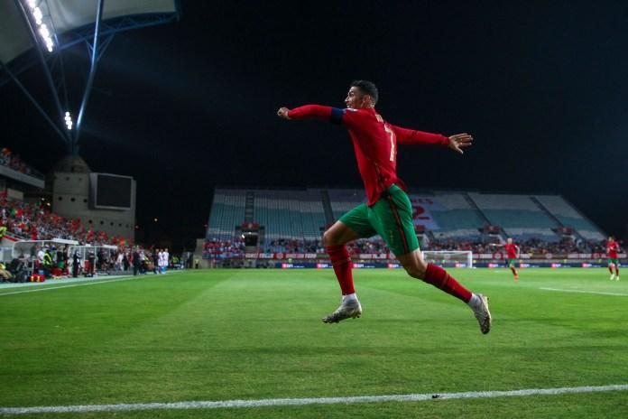 O jogador de 36 anos marcou três gols contra Luxemburgo, o décimo dele por Portugal