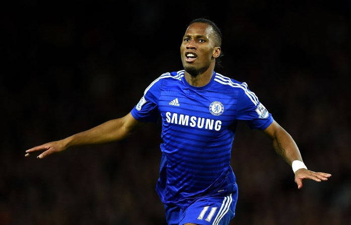 Drogba's iconic celebration is hard to forget
