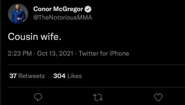 The unnecessarily ugly remarks referred to Khabib's wife and manager