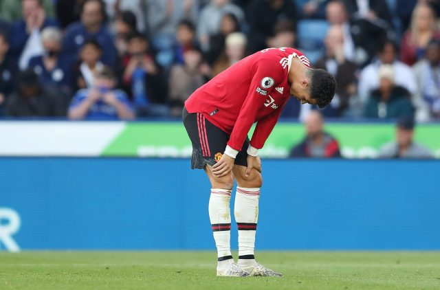 Ole Gunnar Solskjaer stopped Cristiano Ronaldo from storming down the tunnel at Leicester as Manchester United implode before gauntlet run of fixtures