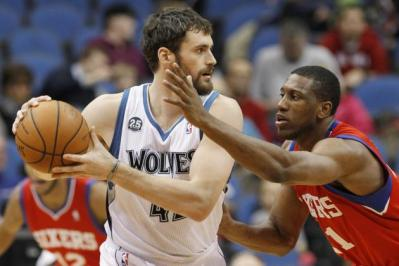 Kevin Love has been traded, but Thaddeus Young is still a Sixer