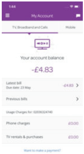 Talktalk My Account View My Bill