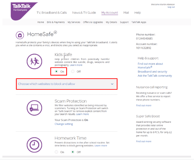 Scam Protection by Talktalk