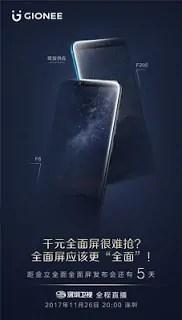 Gionee gionee m7 plus android 7.1.1 nougat mediatek mt6739 chipset 6gb ram 64gb