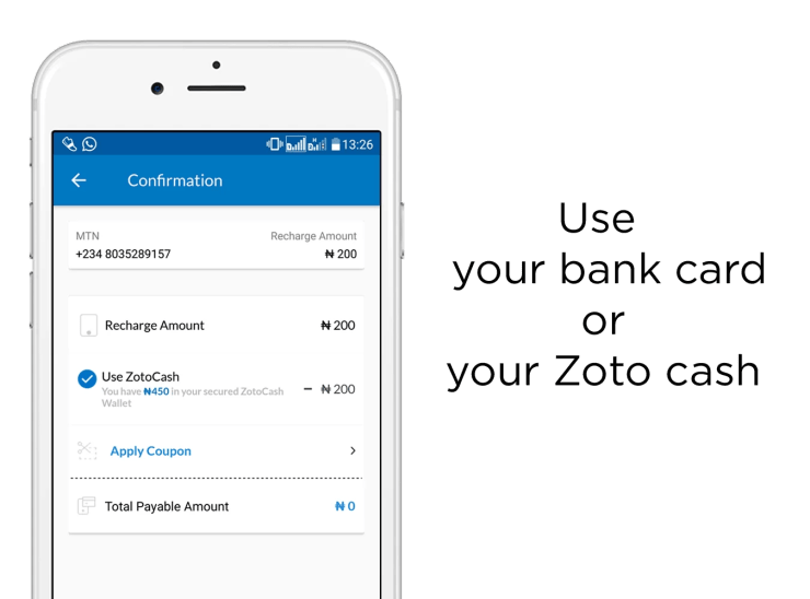 Using Bank Card with zoto