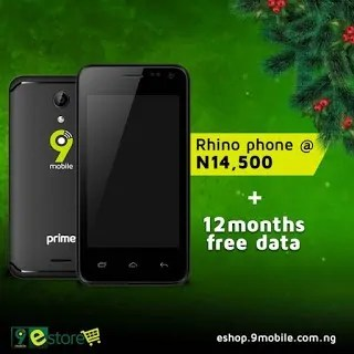 9mobile rhino 2 smartphone free data