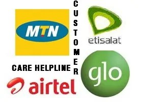 MTN, Glo, 9Mobile and Airtel Customer Care Numbers