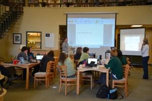 Mr. Kaniecki leading teacher edtech PD.  Photo credit: Ellyn Whiteash, school photographer