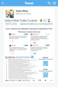 katie ritter iste 2015 twitter contest poster