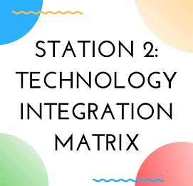Station 2: Technology Integration Matrix