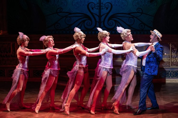 The cast of LA CAGE AUX FOLLES at Cygnet Theatre Photo by Karli Cadel Photography