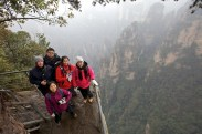 One dangerous view point on our second day. This was the great pathway that led us enjoy the truthly breath taking Zhang Jia Jie