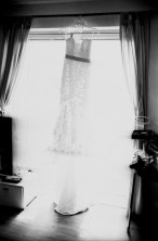 A shot at the wedding dress! Kodak Tri-X, Leica 35mm Summilux Classic