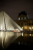 The Lourve at night.