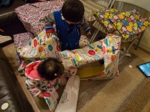Unwrapping presents... lots of them!