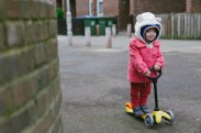 Scooting time, yay!
