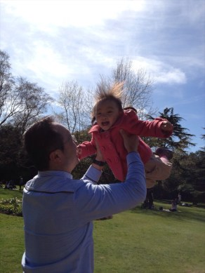 Both loved playing with daddy. This time, Annabelle really shows!