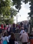 Ponte degli Scalzi (The Barefoot Bridge) was jam-packed!