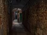 Dark alley way.