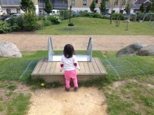 A giant slide for Annabelle.