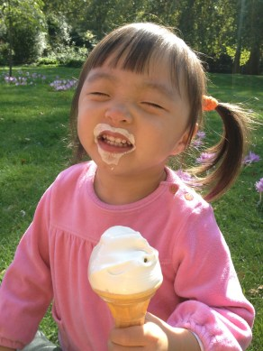 Don't kids just love ice cream
