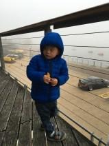 Ashton didn't mind the cold.