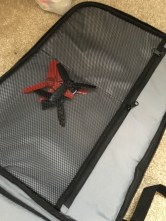 Behind the front cover, there are two zipped mesh holders for other accessories like documents and spare propellers.