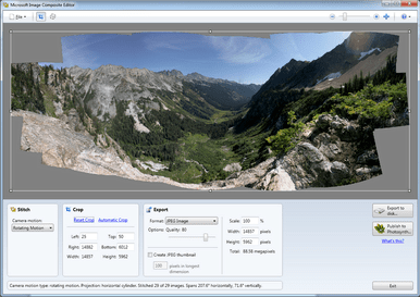 "alt=""#01 - Microsoft Image Composite Editor make full panorama image"