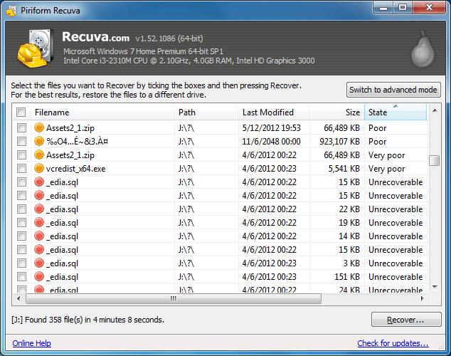 Recuva Cyclic Redundancy Check error fix