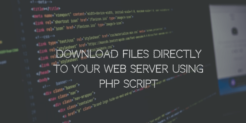 Download files directly using PHP