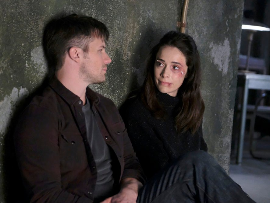 "TIMELESS -- ""A History of San Fran"" Episode 210 -- Pictured: (l-r) Matt Lanter as Wyatt Logan, Abigail Spencer as Lucy Preston -- (Photo by: Patrick Wymore/NBC)"