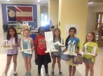 Students display their architectural designs.