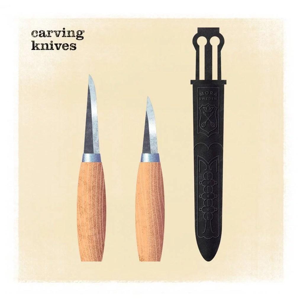 Cuchillo para talla de cucharas