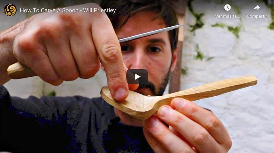 Como tallar una cuchara de madera