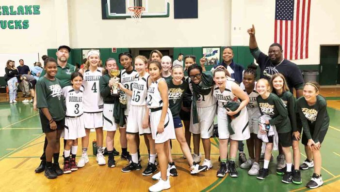 With Eighth Grade Leaders, Deerlake Wins Girls Basketball 2A City Championship