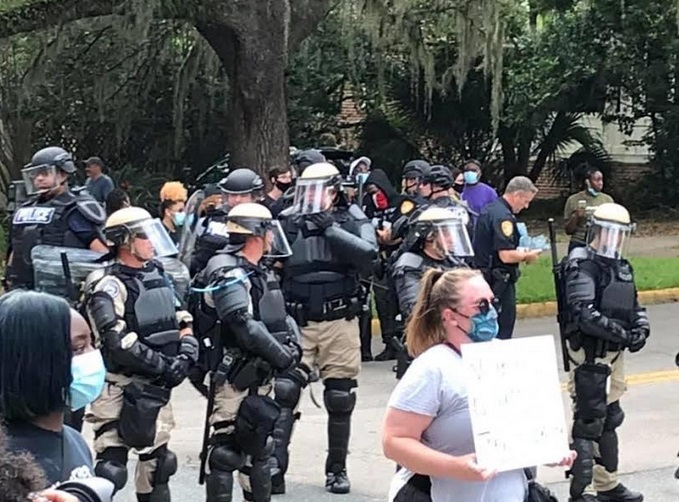 Protests in Tallahassee Not All Peaceful