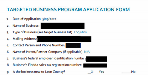 Project Mango Targeted Business Application