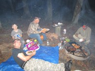 Eating Over the Campfire