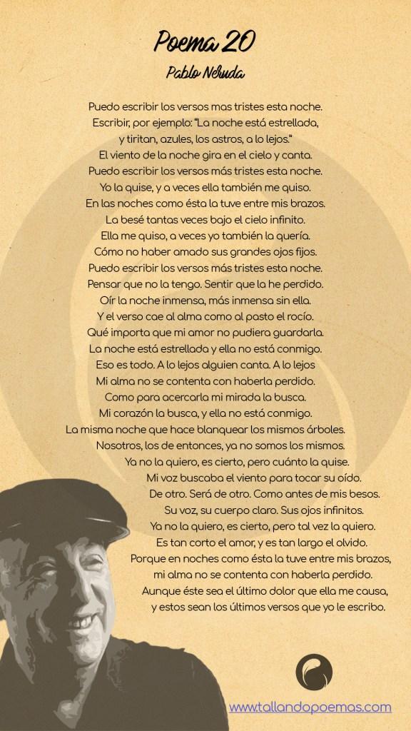 imagen Poema 20 Pablo Neruda