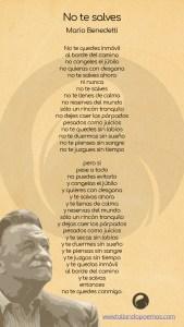 No te salves Mario Benedetti imagen