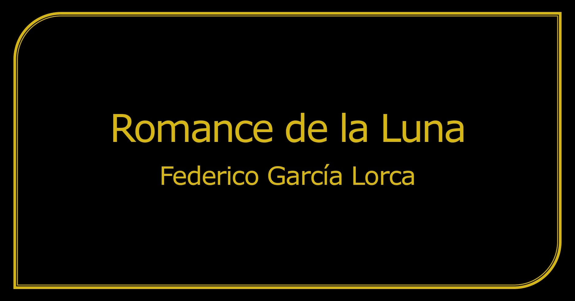Análisis Romance De La Luna Federico García Lorca