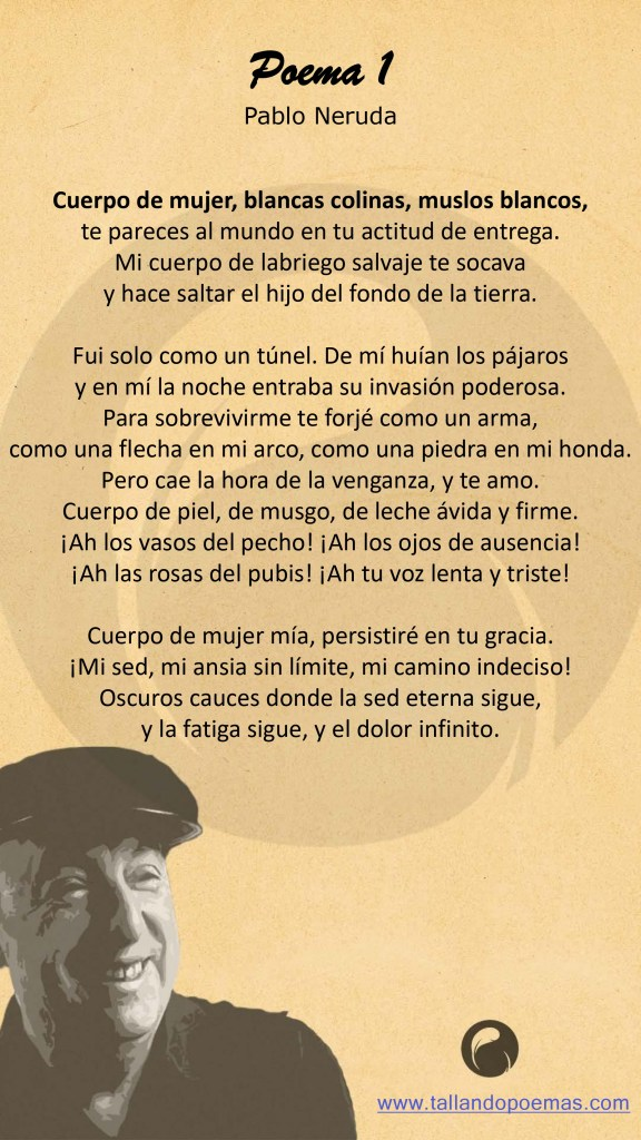 Imagen Poema 1 Pablo Neruda