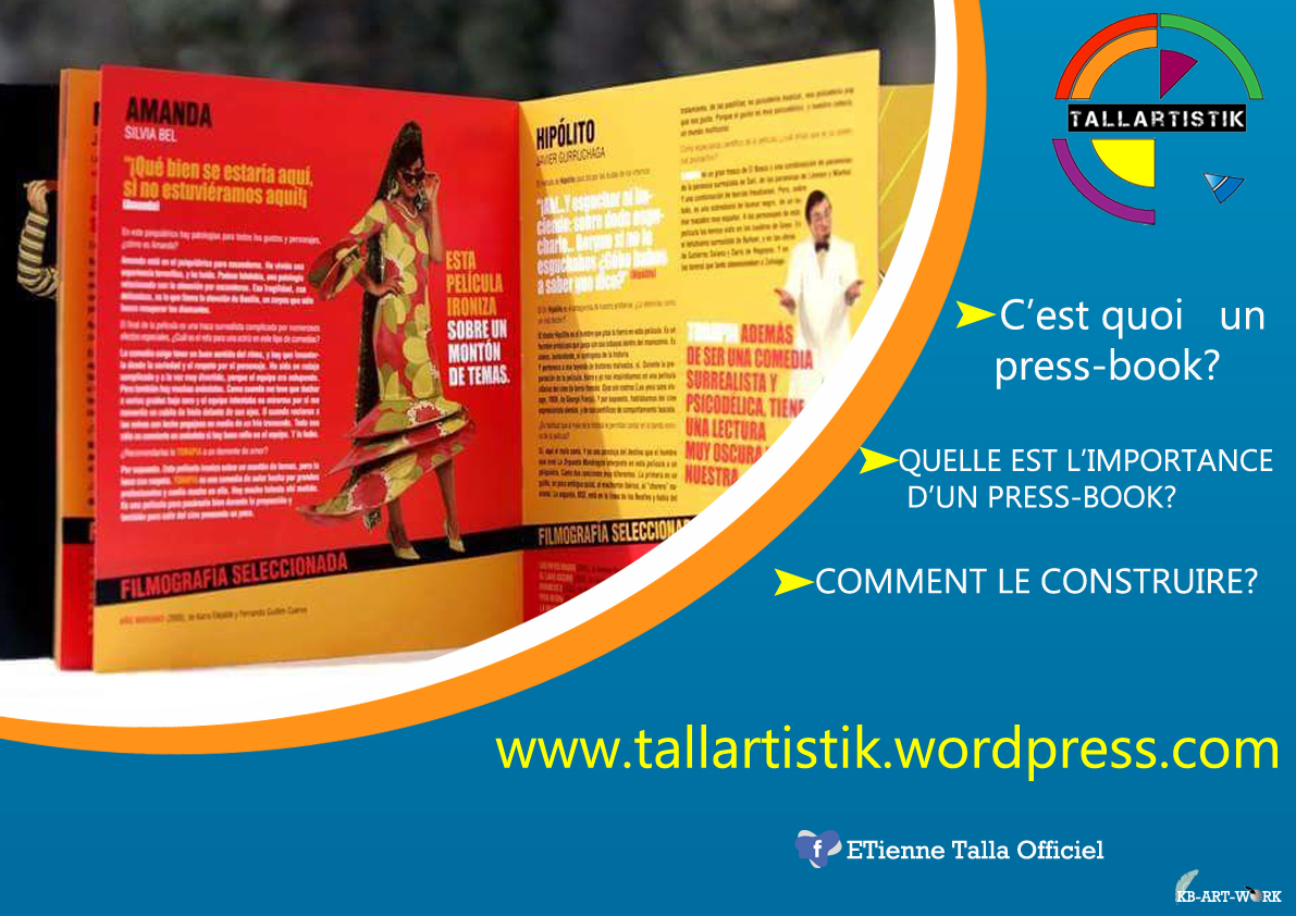 Visuel de press-book pour TALLARTISTIK. Conception: KILLROY Best Best.