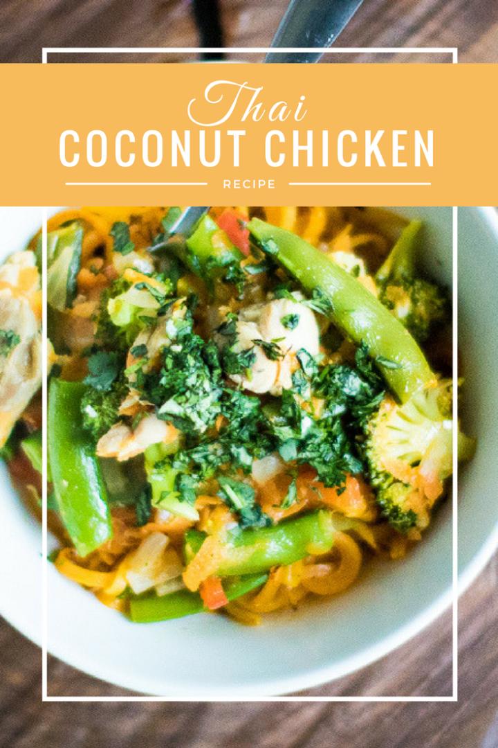 Whole30 Thai Coconut Chicken: TEXT VERSION