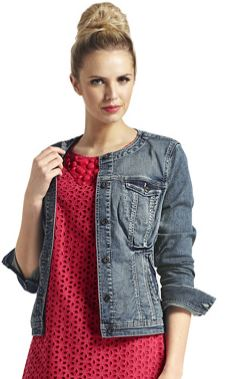 women's tall denim jacket