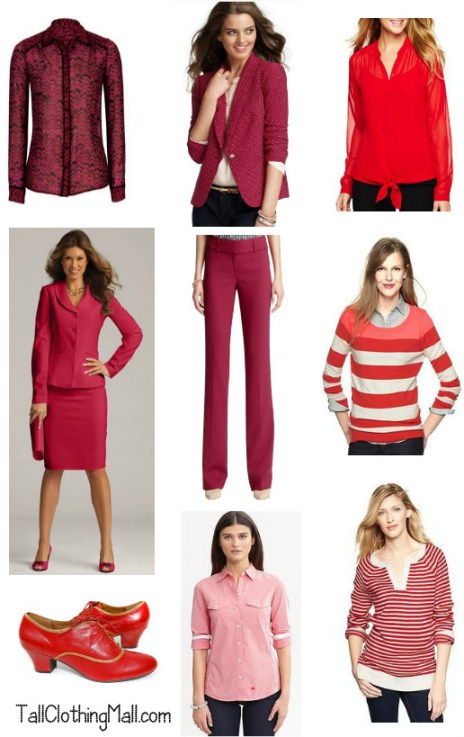 women's red tall clothing